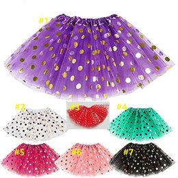 wholesale tutus Australia - Top selling Baby Girls Gold Polka Dot Tutu Skirt Baby Clothes Tutus Dress Kids Skirts Toddler Skirts Red Infant Pettiskirt Newborn by Hope13