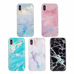 $enCountryForm.capitalKeyWord Australia - Glossy Luxury ins laser Marble case Thick TPU Shell Soft Housing Back Cover Phone Marble Design Case for iPhone XS Max XR X 6 6S 7 8 Plus