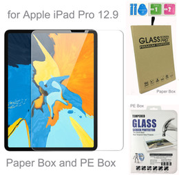 ipad pro 12.9 protector screen Australia - Tablet Screen Protector for iPad Pro 12.9 2018 2017Tempered Glass Screen Film 9H Anti Burst PE Box Paper Box