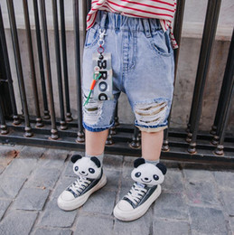 $enCountryForm.capitalKeyWord Australia - 2019 Spring Summer New Fashion Hole Denim Shorts For Children Boys Casual Style Patchwork Loose Jeans Baby Boys Pants Ws272