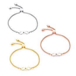 $enCountryForm.capitalKeyWord NZ - Adjustable 316l stainless steel bracelet gift jewelry ,charm bracelet ,fashion infinity bracelet gold silver rose gold