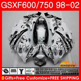 Body Scorpion blanco para SUZUKI KATANA GSXF 750 600 GSXF600 98 99 00 01 02 2HC.7 GSX750F GSX600F GSXF750 1998 1999 2000 2001 2002 Kit de carenado en venta