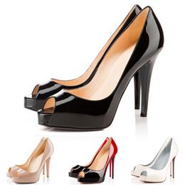 27b1c186bbf1 Designer High Heels Peep Pointed Toe Women Pumps Platform Red Bottoms 12CM  14CM Wedding Dress Shoes 35-42 with Original BOX and Dust Bag