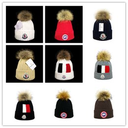 Ca gold online shopping - newest Winter unisex Caps brand Canada CA men fashion knitted hat classical sports skull caps Female casual outdoor man Women goose beanies