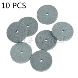 Mounting Card Australia - tool card 10pcs 20mm Diamond Grinding Wheel polishing Mounted Stone Abrasive Tools Rotary Tool acessorios para dremel