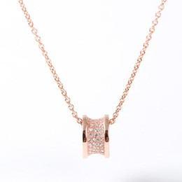Necklace waist online shopping - Designer B Sterling Silver CZ Drum Small Waist Women Pendant Necklace Valentine s Day Gift Wedding Luxury Jewelry High Quanlity Hot