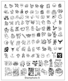 Cartoon Stamping Australia - ail Art Tools Templates New Nail Art Stamping Plate Plus Size 17*21cm Cartoon Animal Cute Icon Transfer Stamping Template Manicure Diy Na...