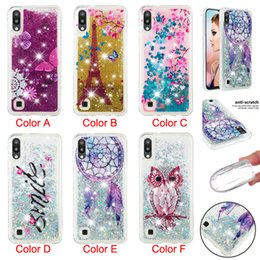 Discount pretty phone covers - Pretty pattern Phone Silicone Cases Glitter Quicksand Back Cover for Samsung S10 S10E S10+M10 M20 J4 Plus J6 Plus Note9