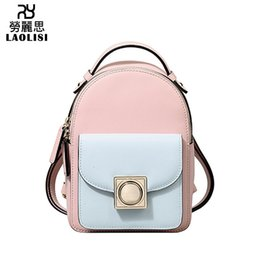 $enCountryForm.capitalKeyWord Australia - Lucky2019 And Autumn Summer Ma'am Both Shoulders Package Hit Color Genuine Leather Portable Backpack A Bag Tide