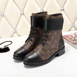 boots warm up Australia - Boots Shoes Lace Up Ribbon Belt Buckle Ankle Boot Factory Direct Female Rough Heel Round Head Autumn Winter Snow Boots Warm Size42 Type3