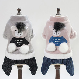 dogs winter jumpsuit Australia - Winter Pet Jumpsuit Dog Coats Jackets Winter Puppy Dog Costume Cute Bear Cartoon Pet Clothes For Small Medium Dogs Supplies Pug Wholesale