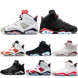 883df90fc54d Nike Air Jordan Retro Sneaker 6 6s Hombres Zapatillas de Baloncesto Tinker  UNC Infrarrojo Blanco Negro Gato Carmine Gatorade Maroon Oreo Diseñador  Trainer ...