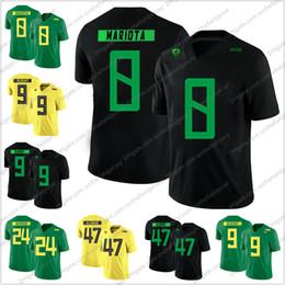 Breathable Football Jerseys NZ - Oregon Ducks 2018 New Style #8 Marcus Mariota 9 LeGarrette Blount 24 Kenjon Barner 47 Kiko Alonso College Football Jerseys S-3XL