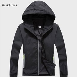 $enCountryForm.capitalKeyWord Australia - 2018 Plus Size 6 Colors Men Quick Dry Skin Jacket Spring Autumn Summer Men Jacket Windbreaker Sport Outdoor Clothing Size S-7XL