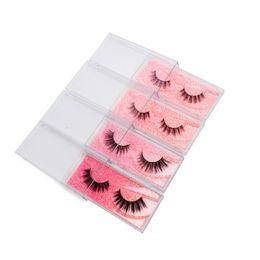 Free Shipping Eyelash False Australia - Pink Glitter Mink 3D Eyelashes Full Strip Lashes Silk Lash Makeup False Eyelashs Russian Volume Lash Private Logo Free Shipping