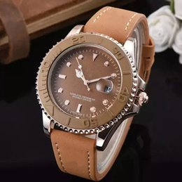 Top Wrist Watches Australia - New Brown leather Men Watch Top Brand Luxury Famous Male Clock Wrist Watch Casual Fashion Business Quartz waterproof watch Montre homme