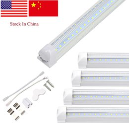 Foot Cooler Australia - Special Customized specification Cooler Door LED Tube V Shaped 8FT Lights 4FT 5FT 6FT 8 Feet LED T8 72W Double Side tube bulbs