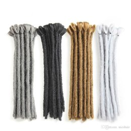 $enCountryForm.capitalKeyWord NZ - Hot! Dreads Handmade Dreadlocks Hair Extensions Black 15-30CM Hair Hip-Hop Style Dreadlock Extensions Synthetic Braiding Hair For Man