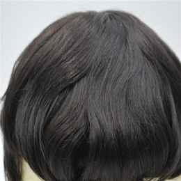 Human Hair Toupee For Men Australia - cuticle aligned remy high quality human hair products lace swiss hair piece toupee for men