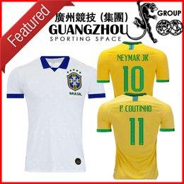 804772522 2019 Brazil soccer Jerseys home Brasil PAULINHO G.JESUS AWAY WHITE COUTINHO  19 20 jersey 2020 football shirts