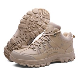 camp shoes for men Australia - Male Outdoor Sports Tactical Military Men Shoes For Camping Climbing Shoes Men Boots Non-slip Comfortable Mountain Hiking Shoes