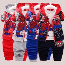 $enCountryForm.capitalKeyWord Australia - 2018new Spiderman Baby Boys Clothing Sets Cotton Sport Suit For Boys Clothes Spring Spider Clothes Three Piece Set Set J190715