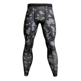 Gold Tight Leggings Australia - Camouflage Compression Pants Running Tights Men Soccer Training Pants Fitness Sport Leggings Men Gym Jogging Trousers Sportswear