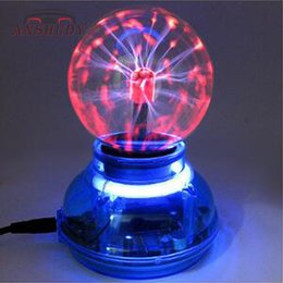 $enCountryForm.capitalKeyWord Australia - ANSHUDY LED USB Plasma Ball 3inch Sensing Decoration Atmosphere Lights Music Sound Control Party DJ Lights Electrostatic Lamp
