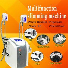 Discount cavitation pads - CE cryo machine fat freezing slimming cavitation rf skin tightening slimming machine lipolaser with 6 pads