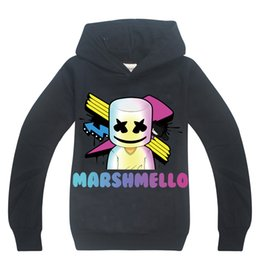 Cotton Mask For Kids Australia - Fashion Kids Hoodie Sweatshirt DJ Marshmello Mask Music Hooded Coat For 6-14 Years Children Boys Girls Outerwear Clothing