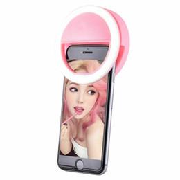 Luz luxuosa portátil da suficiência do flash do anel da câmera do diodo emissor de luz de Selfie para o telefone móvel de IPhone venda por atacado