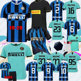 Making jerseys online shopping - 19 Thai ALEXIS LUKAKU LAUTARO SKRINIAR Inter Milan Soccer Jerseys Calcio GODÍN BARELLA Jerseys Custom Made Men Kids Kits