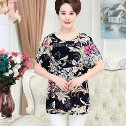 $enCountryForm.capitalKeyWord Australia - Middle Age Women Loose Tee Shirts Summer Plus Size Bat Short Sleeve T-shirt Quinquagenarian Mother Clothing Top Blusas