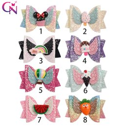 "Chinese  3"" Hair Accessories Glitter Hair Clips for Girls Cute Hair Bows with Wings Korean Hairpins Children Princess Hairgrip manufacturers"