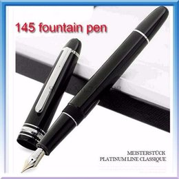 $enCountryForm.capitalKeyWord Australia - Free shipping luxury designer pens Black LeGrand fountain pen with sliver gold trim office brand pen # 145