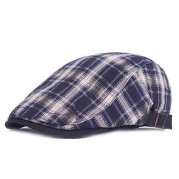 $enCountryForm.capitalKeyWord Australia - Good Quality Summer Fashion Cotton Plaid Newsboy Cap Casual Flat Driving Golf Cabbie Caps Casual Ivy Hat for Women Men Unisex