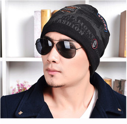 $enCountryForm.capitalKeyWord Australia - New Fashion Pattern Villus Line Cap Ghost Head Letter Printing Knitting Autumn Winter warm Men Women Skiing Hat