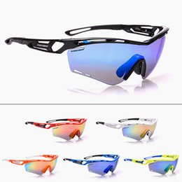 Red White Dresses Australia - Cycling Outdoor Sport Defence Sandwind Bicycle Mountaineering Go Fishing Glasses  TR90 Single Width Dress tactical Multi
