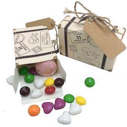 $enCountryForm.capitalKeyWord Australia - 100pcs Mini Suitcase Kraft Candy Box Bonbonniere Wedding Gift Boxes Travel Themed Party For Anniversary Birthday Baby Shower Box J190710