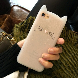 $enCountryForm.capitalKeyWord UK - YunRT Dower Me Newest Fashion 3D Cute Cartoon Cat Ear Soft Silicone Back Phone Case Cover For Iphone X 8 7 6 6S Plus 5 5S SE
