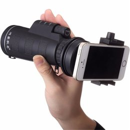 universal cellphone camera NZ - Newest Universal Common 10x40 Hiking Concert Cellphone Camera Lens Zoom Telescope Camera Lens Phone Holder For Smartphone