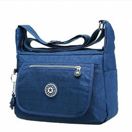 Waterproof Shoulder Travel Bag Australia - Fashion Women Shoulder Bags Handbag High Quality Zipper Waterproof Nylon Messenger Bag Tote Travel Girls Student Crossbody Bag