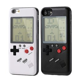 Game console covers online shopping - Gameboy Tetris Phone Cases Play Blokus Game Console Cover Classic Shockproof Protection Case for iPhone X s Plus Retail packaging