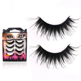 Wholesale 3D Mink Eyelashes Natural False Eyelashes Long Eyelash Extension Faux Fake Eye Lashes Makeup Tool 5Pairs set RRA1845