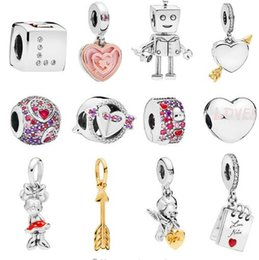 ba30e2c05 2019 Valentine Day Collection Dangle heart & Cartoon Charms fits Pandora  Bracelet Charm 925 sterling Silver Original loose Beads Jewelry