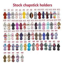 Gift wrap holder online shopping - Sport Printed Chapstick Holder Neoprene Keychain Leopard Keychian Wrap Lip Cover Party Favor Christmas Gift Designs LXL1037