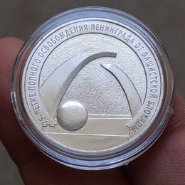 $enCountryForm.capitalKeyWord Australia - 10 pcs The 2019 75th anniversary of Leningrad liberation silver plated Russia vicotry eagle head souvenir collectible coin