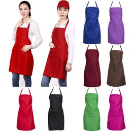 $enCountryForm.capitalKeyWord Australia - Thicken Cotton Household Cleaning Tools Accessories Polyester Blend Anti-wear Cooking Kitchen Bib Apron With Pockets