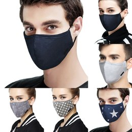 Men's Masks Steady Face Mask Cotton Mouth Mask Black Anti Haze Dust Masks Filter Windproof Mouth-muffle Bacteria Flu Fabric Cloth Respirator