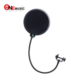 records pop NZ - Studio Microphone Mic Wind Screen Pop Filter  Swivel Mount   Mask Shied For Speaking Recording Black